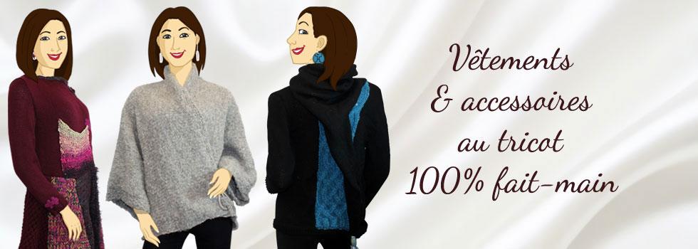 Vêtements et accessoires au tricot 100% fait-main