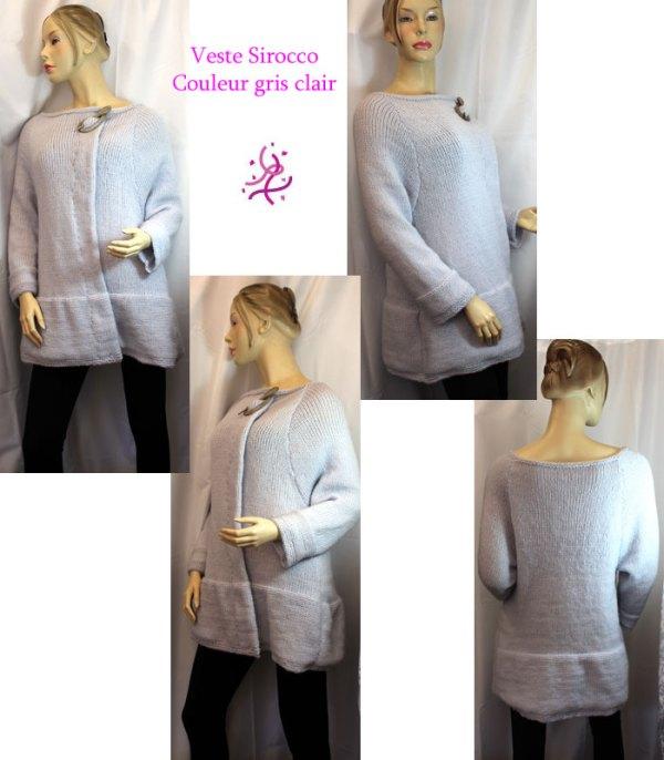 Veste Sirocco gris clair