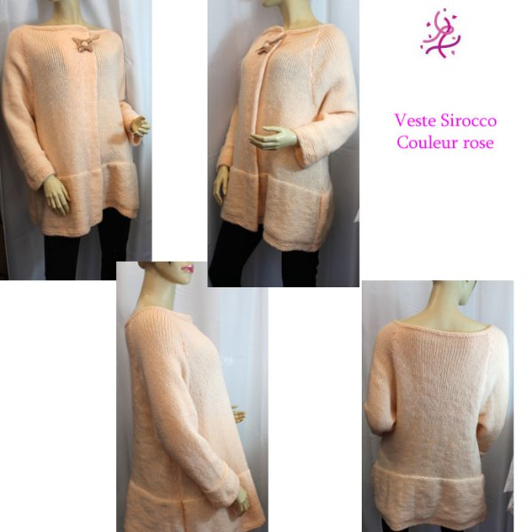 Veste Sirocco couleur rose