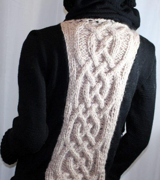 Veste féérique noire et rose pâle: gros plan sur le dos