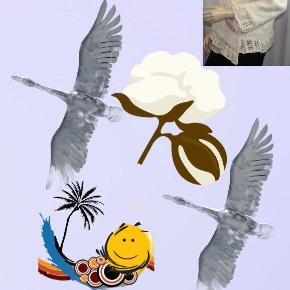 Fais comme l'oiseau! Cache-cœur plume d'oie