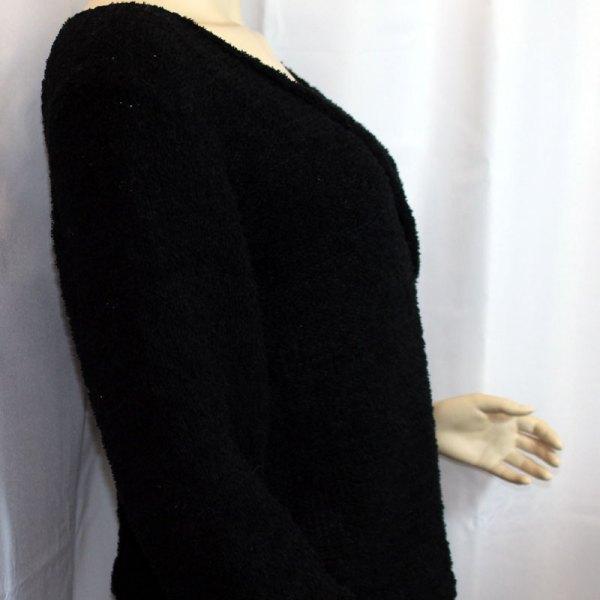 """Cache-cœur """"Plume d'oie"""" en coton, couleur noire"""