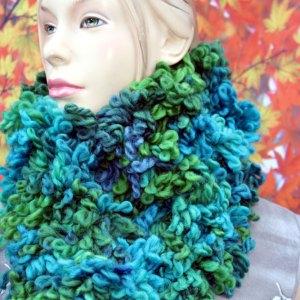 Echarpe Fofolle vert-bleu
