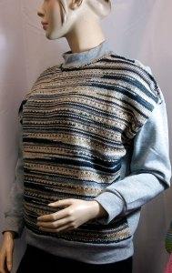 Le mix des matières: Sweater tricot & couture