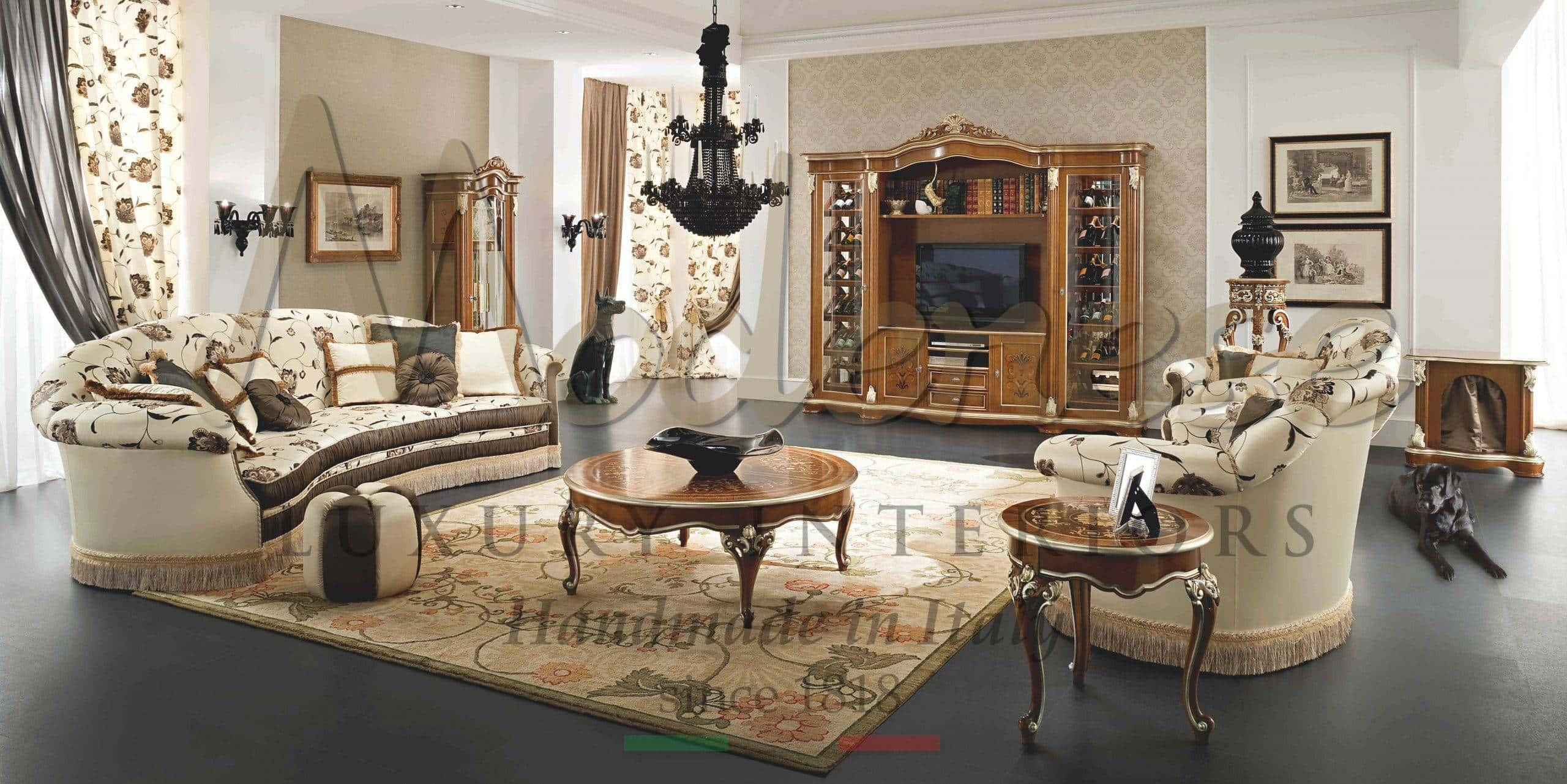 classic luxury living room furniture – italian artisanal handmade furniture – high end italian ...