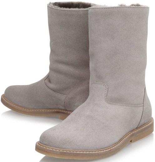 'Kiruna' Sheepskin Boots i Grey Bonpoint par