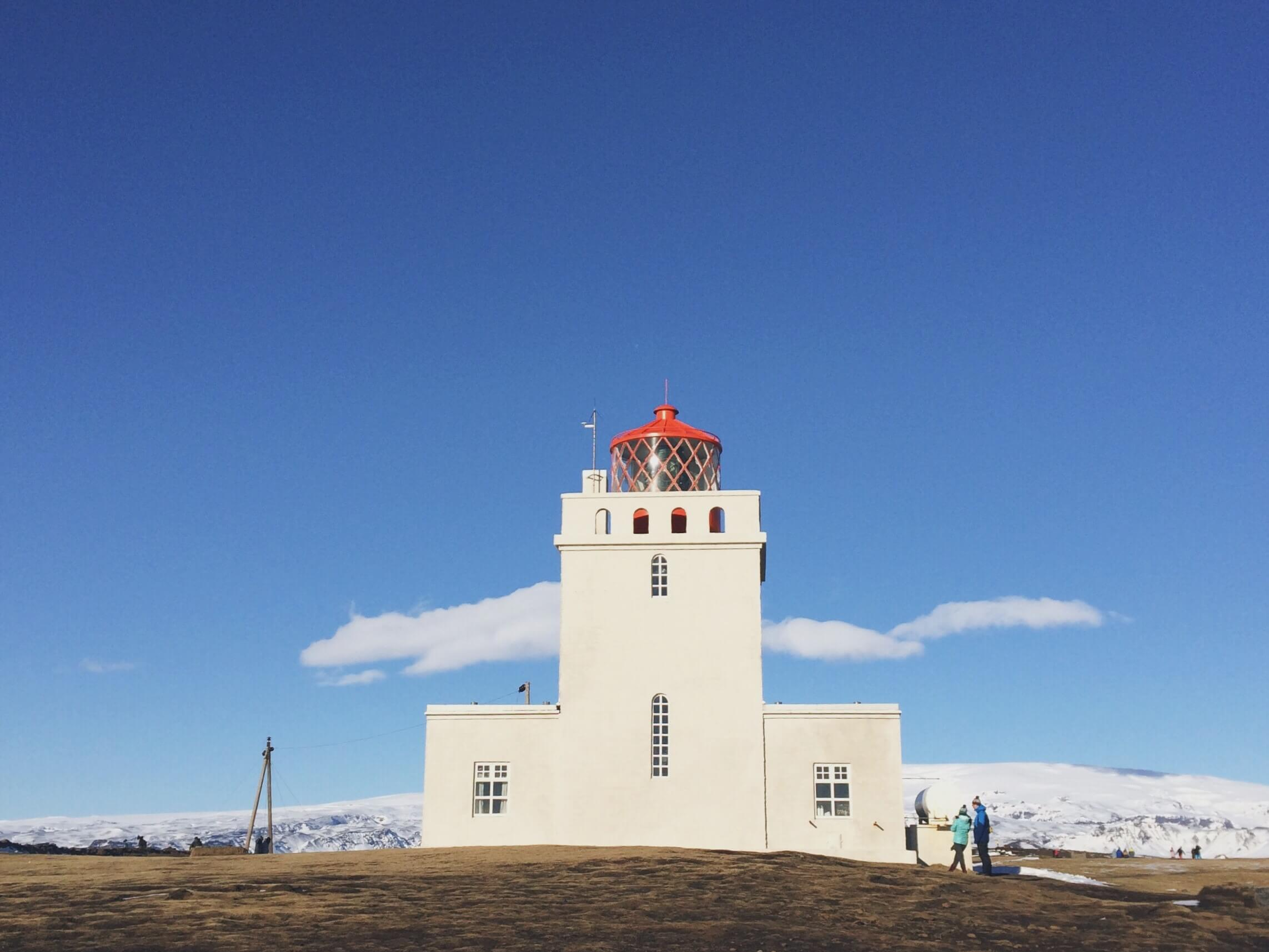 Dyrhólaey Lighthouse, Iceland's southeastern coast