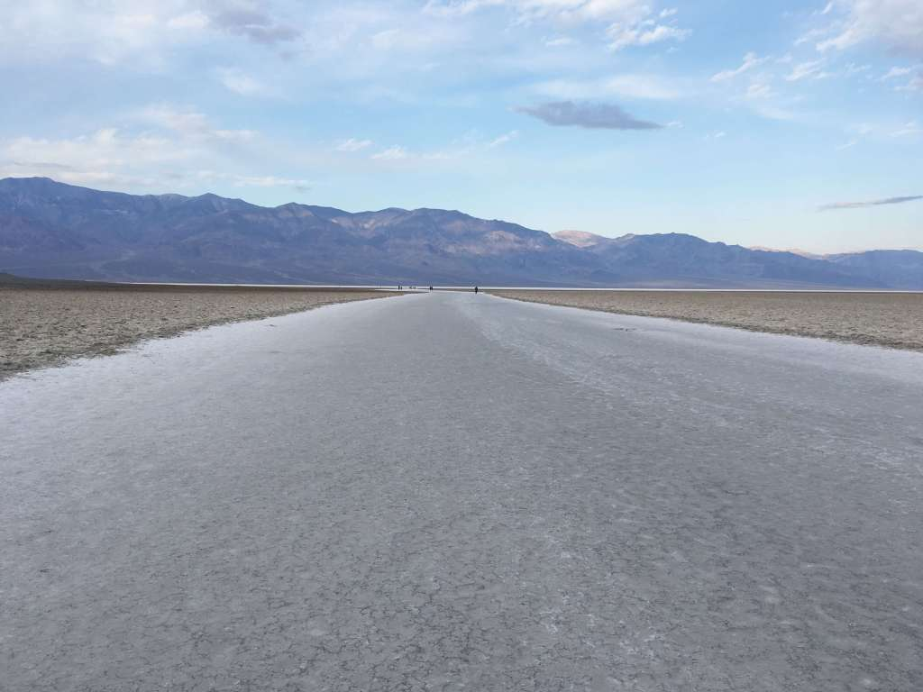 Salt path leading to Badwater Basin, Death Valley National Park, California