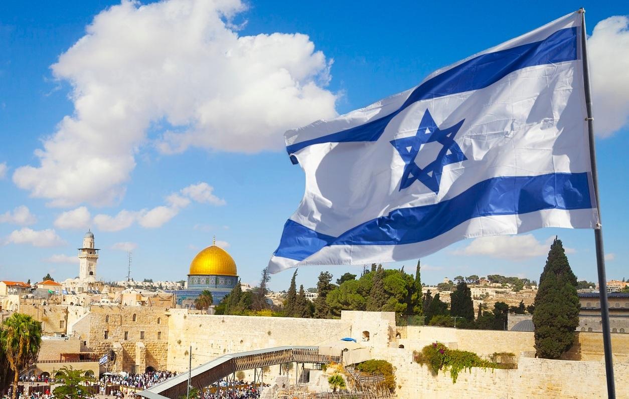 israel flag jerusalem