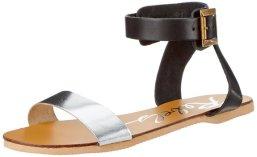 silver flat sandal