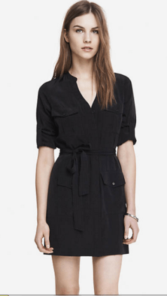 Express military shirtdress
