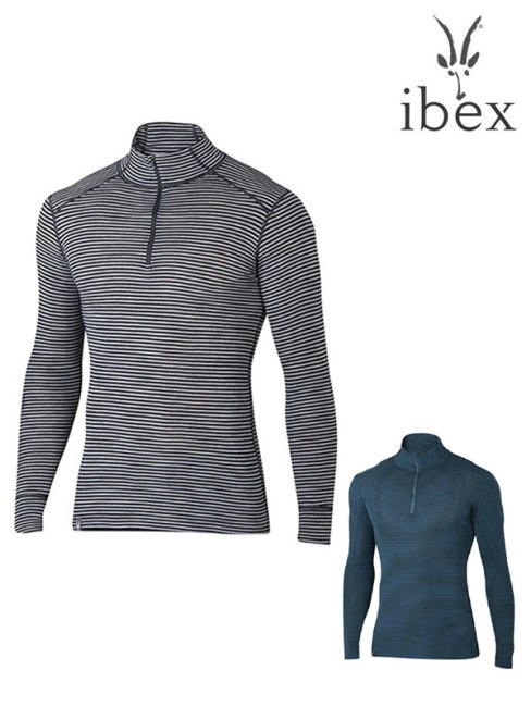 ibex,アイベックス,メンズウーリーズ1ジップネック ストライプ ナイロンコアモデル,Woolies 1 Zip Neck Stripe