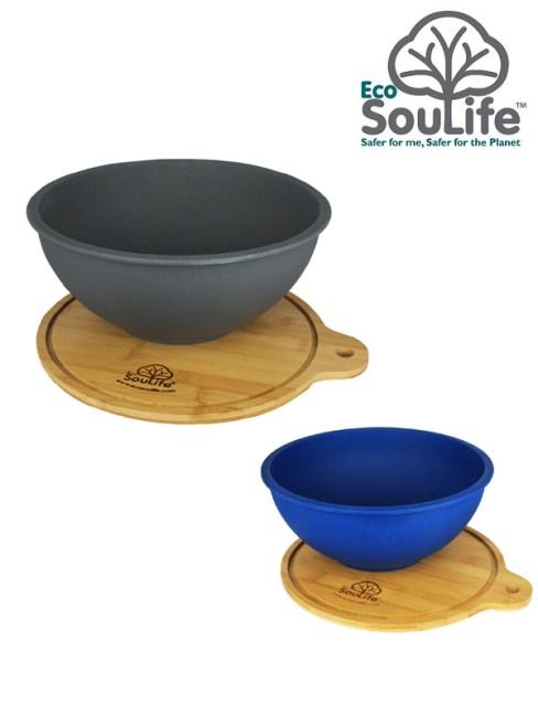Eco Sou Life,BBQ Plate,エコソウライフ,Salad Bowl with Bamboo Wood Cutting Board S,サラダボウルウィズバンブーカッティングボード S