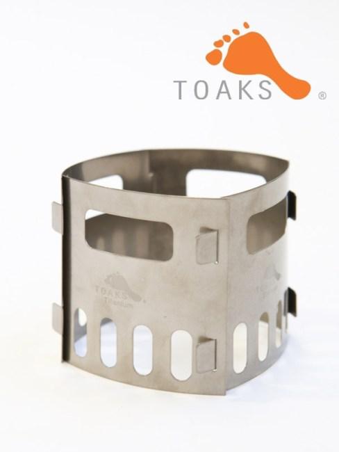 TOAKS,トークス,Titanium Alcohol Stove Pot Stand,チタニウム アルコール ストーブ ポット スタンド