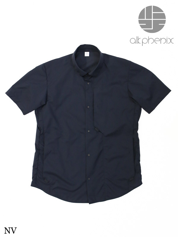 alk phenix,アルクフェニックス,crank shirt S/S #NV,クランク シャツ ショートスリーブ