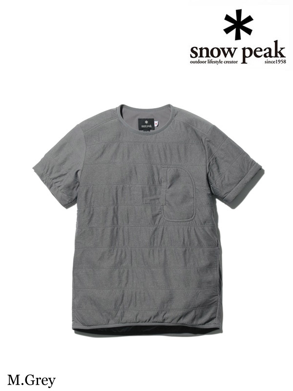snow peak,スノーピーク,Flexible Insulated Half Sleeve Womens #M.Grey ,フレキシブルインサレーションハーフスリーブ レディース #メランジェグレー