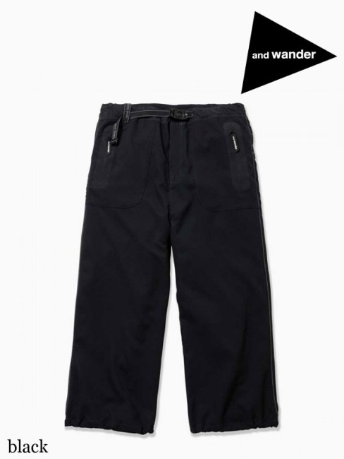 and wander,アンドワンダー ,W's vent pants #black ,ベントパンツ(レディース)