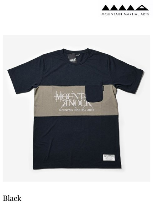 MMA、マウンテンマーシャルアーツ 、MMA×Hunger Knock Originals Panel Tee #Black 、 MMA×HUNGER KNOCK originals パネルTシャツ