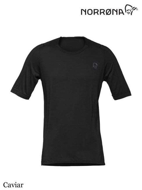 Norrona ,ノローナ, skibotn wool equaliser T-Shirt #Caviar ,メンズ シーボットン ウール イコライザー ティーシャツ