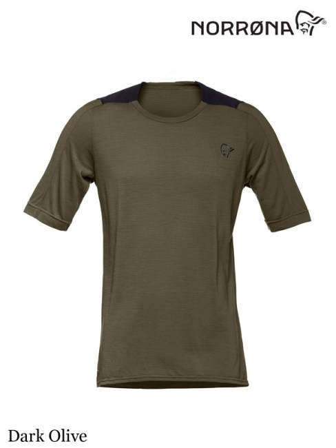 Norrona,ノローナ ,skibotn wool equaliser T-Shirt #Dark Olive ,メンズ シーボットン ウール イコライザー ティーシャツ