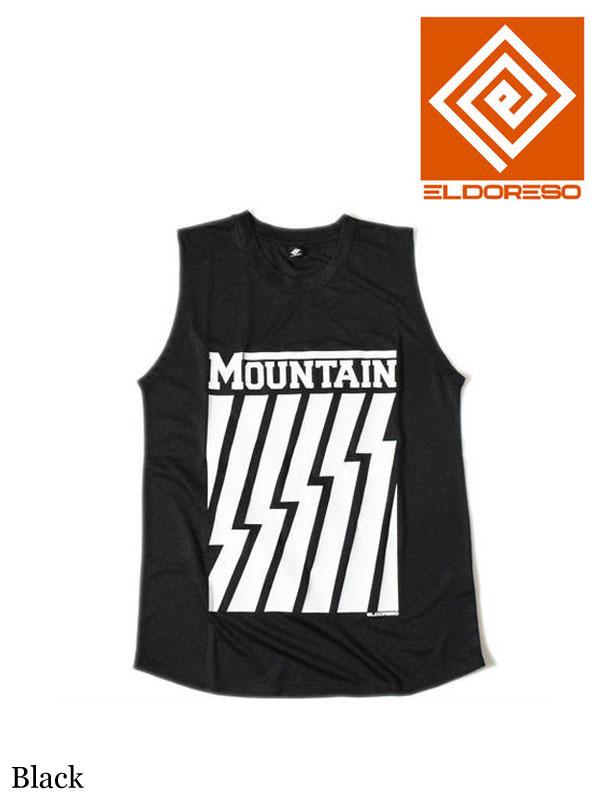 ELDORESO,Mountain Sleeveless T #Black ,エルドレッソ,マウンテン スリーブ T