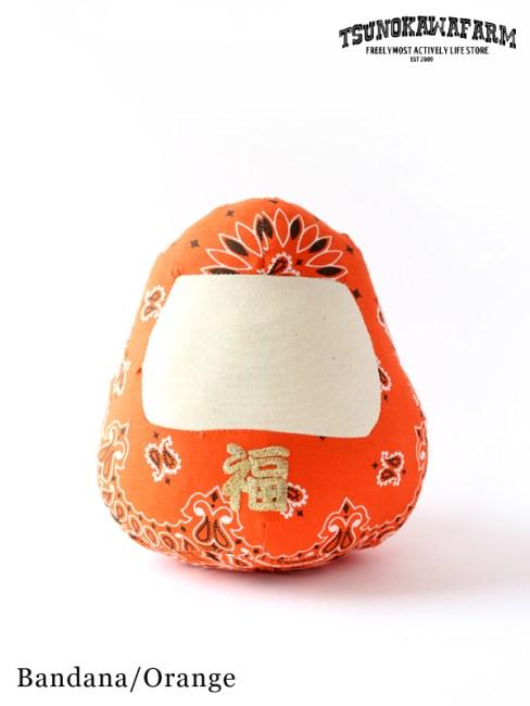 TSUNOKAWAFARM,Happy Dharma #Bandana/Orange ,ツノカワファーム, ハッピーダルマ
