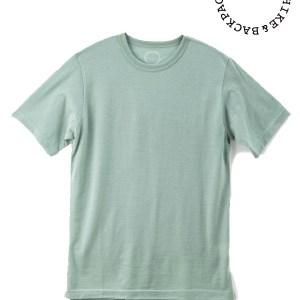 山と道|Light Merino Crew Neck T-shirt  #Granite Green