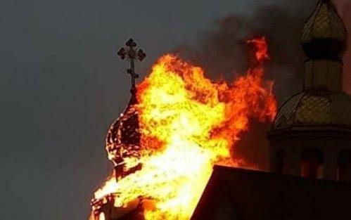 Qazaxıstanda monastır yandı - FOTO