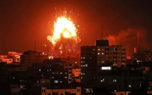 İsrail qırıcıları Fələstin DİN-in binasını vurdu