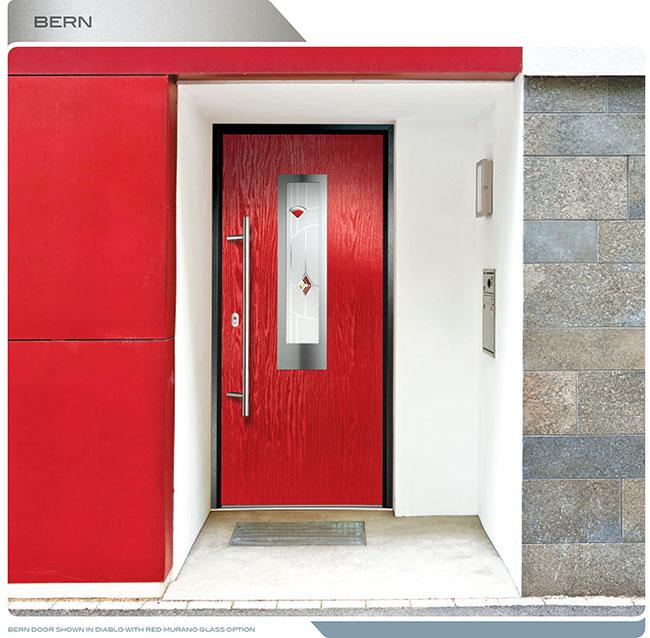 Modern Entrance DoorFIberglass Modern Exterior Door with
