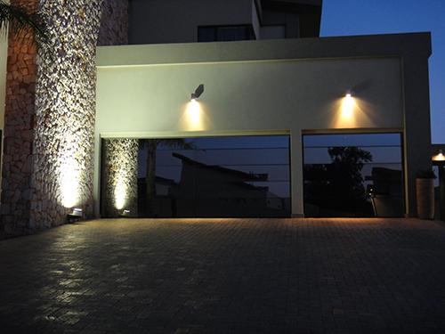 Custom Modern Aluminum frame with mirror glazing garage Doors