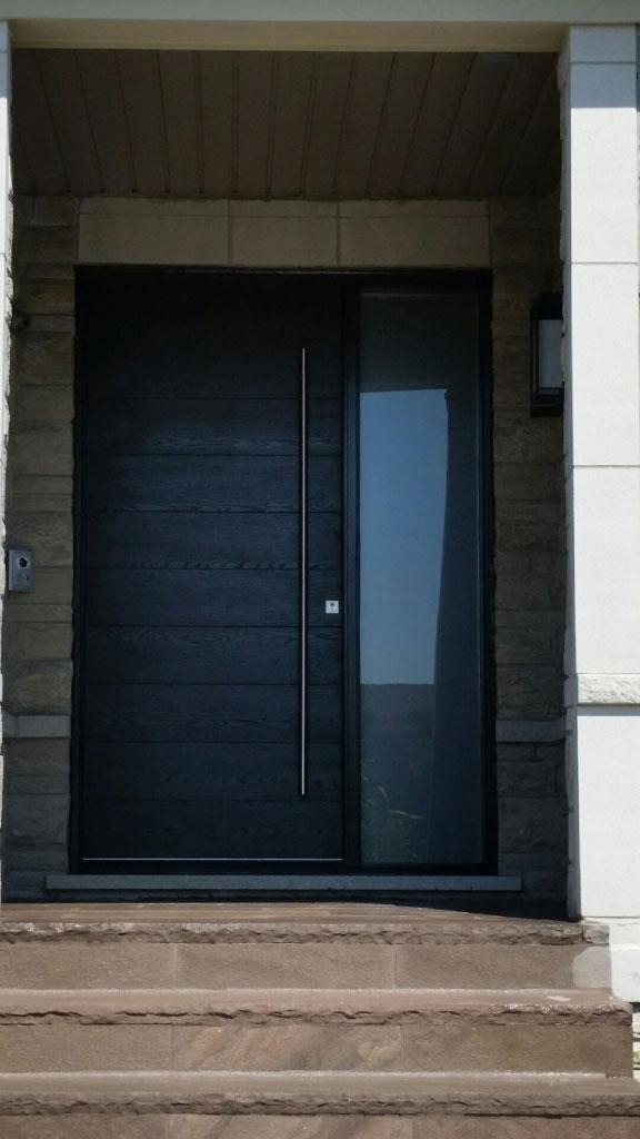 Modern Exterior Front DoorModern Rustic Woodgrain Front