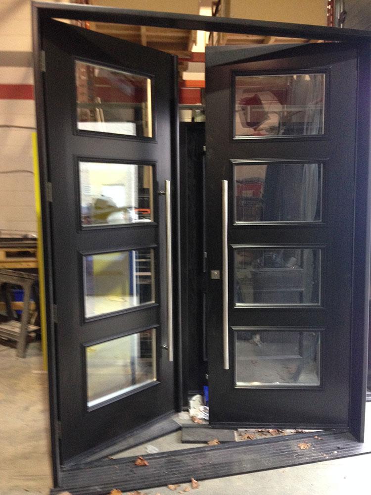 Fiberglass DoorsModern Fiberglass 8 Foot Doors with 4