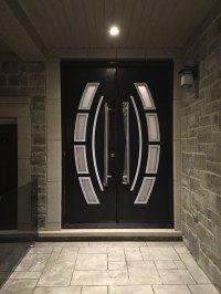 Custom Design Modern Doors with Arched Designed door lites ...