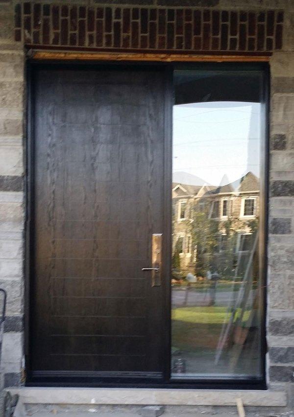 Modern Fiberglass Rustic Door with Multipoint Lock and