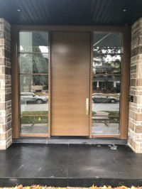 Modern Exterior Single Door Double Side Light - Modern Doors