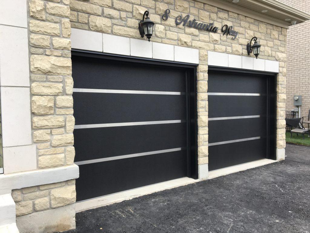 Stainless Steel Strip Modern Garage Doors  Modern Doors