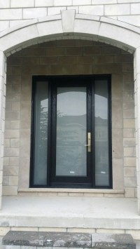 Modern Entry Door Frosted Glass Multi Point Lock - Modern ...
