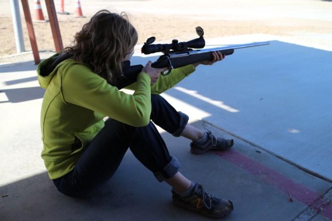 Beginner Rifle Marksmanship. Shooting the 25-06 at the range.
