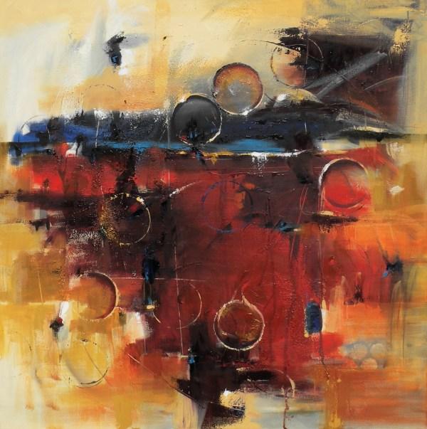 Radiant Horizon Contemporary Abstract Art Cynthia Ligeros