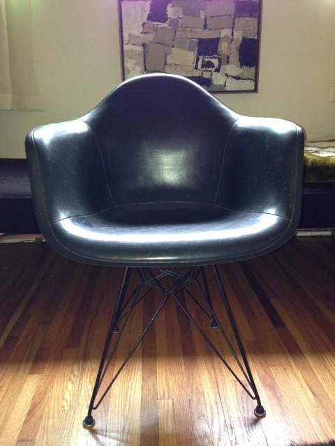 fiberglass shell chair tank eames chairs with painted backs or two tone 1954 arm vinyl cover and eiffel base