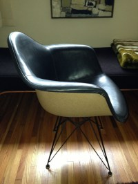Eames Fiberglass Shell Chairs with Painted Backs or Two ...