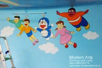 Cartoon Painting For Kids Room