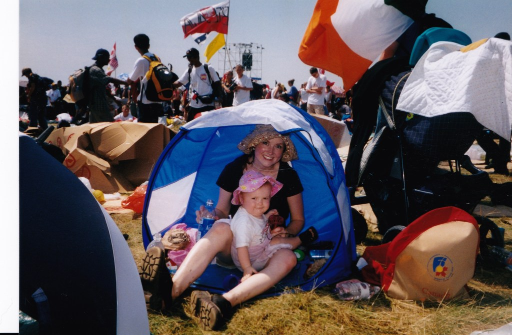 World Youth Day 2002. Take a look at all our gear! And what's up with the clunky clod-hoppers I was sporting?