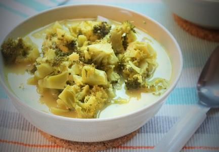 Zupa brokułowo- serowa