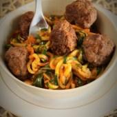 Keto spaghetti z pulpecikami (Paleo, LowCarb)