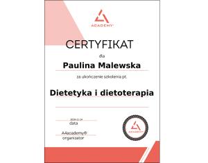Dietetyka certyfikat