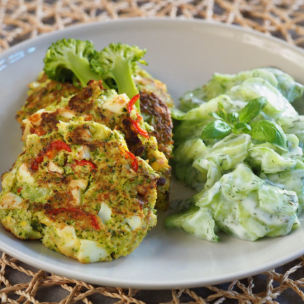 keto kotlety jajeczno - brokułowe