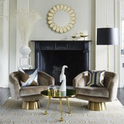Swivel Chairs Living Room Decorating With Brown Leather Furniture Upholstery Design For