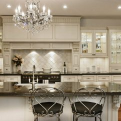 Kitchen Chandeliers High Gloss Cabinets 10 To Brighten Up Your Modern A French Country Style Would Not Be Complete Without Beautiful Iron Chandelier As The One In Picture It Matches Perfectly Ambiance
